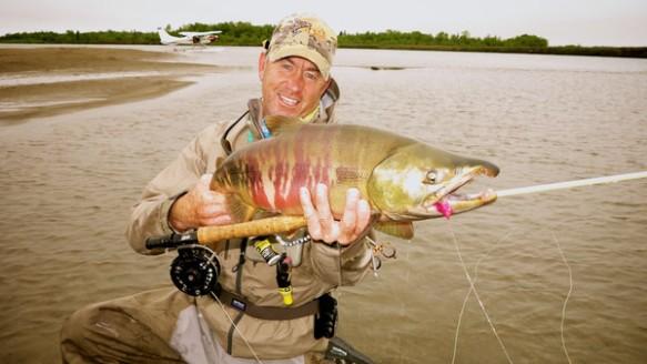 Peter Hayes la 580, et un saumon. J'aurais vraiment dû prendre une truite.